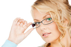 Woman with eyeglasses Stock Photography