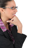 Woman with eyeglasses Royalty Free Stock Images