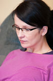 Woman in eyeglasses portrait Royalty Free Stock Images