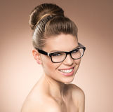 Woman in eyeglasses Royalty Free Stock Photos