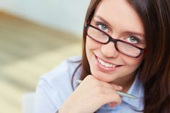 Woman in eyeglasses Stock Image