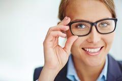 Woman in eyeglasses Royalty Free Stock Photos