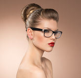 Woman in eyeglasses Royalty Free Stock Photo