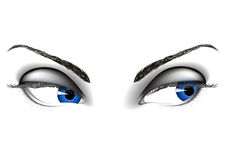 Woman eyes. Blue woman eye, vector illustration, AI file included Royalty Free Stock Images