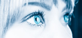 Woman eyes close-up Stock Image