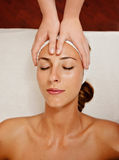 Beauty image, beautician's hands Stock Photography