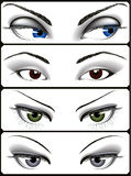 Woman_eyes_collection Royalty Free Stock Photography