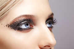 Woman eyes with day makeup Stock Photography