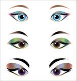 Woman eyes - design elements Stock Photos