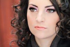 Woman eyes with extremely long eyelashes Stock Images