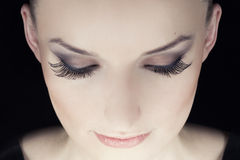 Woman eyes with long eyelashes. Beauty portrait Royalty Free Stock Photography