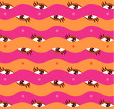 Woman eyes with make up on seamless pattern. Vector illustration eps 10 stock illustration
