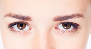 Woman eyes photo Stock Images