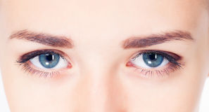 Woman eyes photo Royalty Free Stock Photos