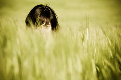 Woman eyes spying Royalty Free Stock Images