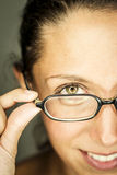 Woman and eyesight Royalty Free Stock Photography