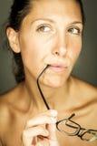 Woman and eyesight Royalty Free Stock Image