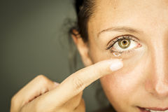 Woman and eyesight Stock Photography