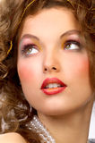 Woman face. Beautiful young woman face with great make-up Royalty Free Stock Photography