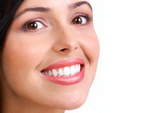 Woman face. Smiling  young woman face with perfect  teeth Stock Photos