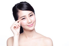 Free Woman Face And Eye Care Stock Images - 68048764