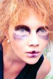 Woman face with art makeup Stock Photo