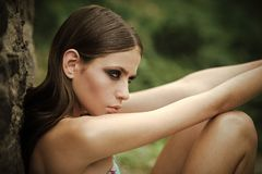 Woman face beauty. Woman portrait natural beautiful casual beautiful people stock photography