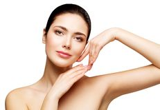 Woman Face Beauty Skin Care, Beautiful Girl Healthy Make Up, Natural Makeup Skincare and Treatment