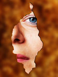 Woman face behind Royalty Free Stock Photo