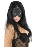 Woman face with black mask Royalty Free Stock Photo