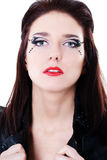 Woman face with bright makeup Stock Photography