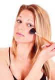 woman face brush Royalty Free Stock Photos