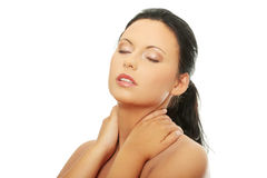Woman face with clean skin Stock Photography