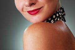 Woman face close-up Stock Photo