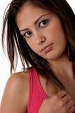 Woman face close up Stock Photos
