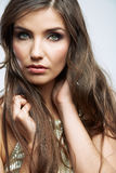 Woman face close up beauty portrait. Female model  Stock Image