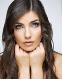 Woman face close up beauty portrait Royalty Free Stock Photography