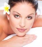 Woman face closeup Royalty Free Stock Image
