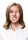 Woman face collected from different parts Stock Image