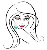 Woman face vector Stock Photography