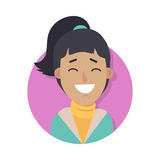 Woman Face Emotive Vector Icon in Flat Style Royalty Free Stock Image