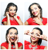woman face expressions composite Stock Image