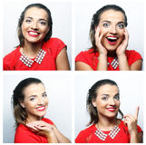 Woman face expressions composite Stock Photography