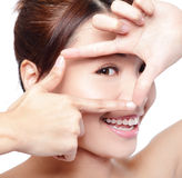 Woman face and eye care Stock Image