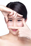 Woman face and eye care Royalty Free Stock Images