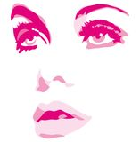 Woman face eyes vector illustration Royalty Free Stock Photos