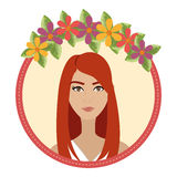 Woman face with flowers Royalty Free Stock Images