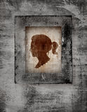 Woman face in frame Royalty Free Stock Photos