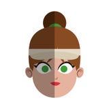 Woman face icon Stock Photo