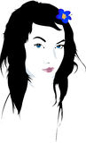 Woman Face Illustration Stock Photography